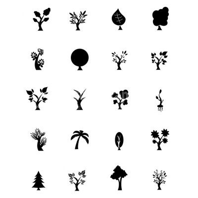 Black Symbols - Trees - Illustration