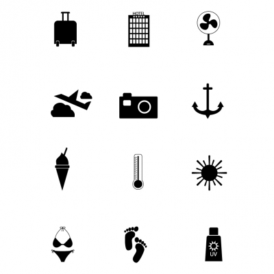 Icons - Beach - Illustration