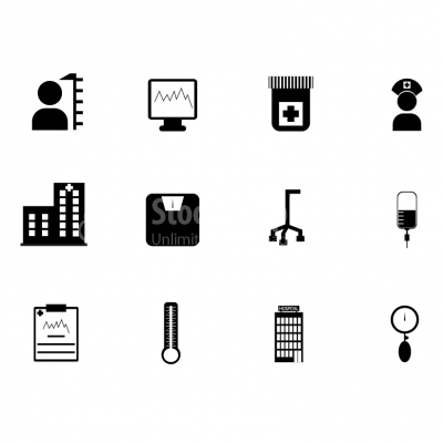 Healthcare and medicine icons - Illustration