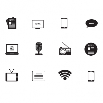 Media and communication icons - Illustration