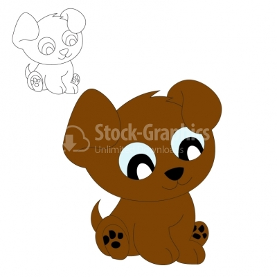 Puppy Cartoon - Illustration