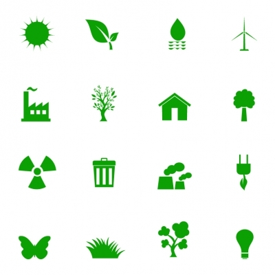 Eco color Icons set - Illustration