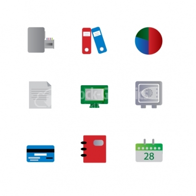 Business & Office Icons - Illustration