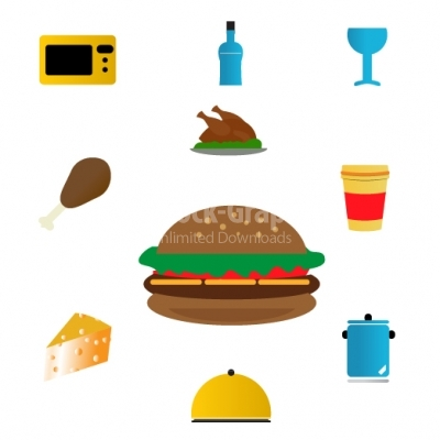 Kitchenware icon set