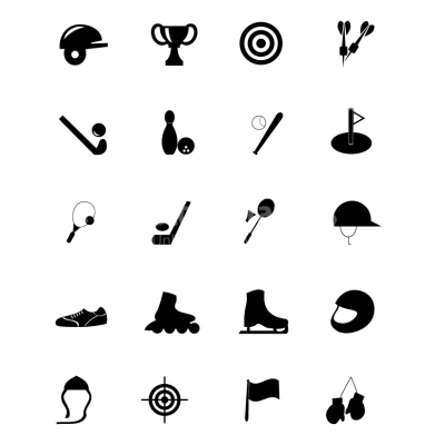 Sport Equipment icons - Illustration