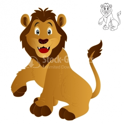 Happy Lion - Illustration