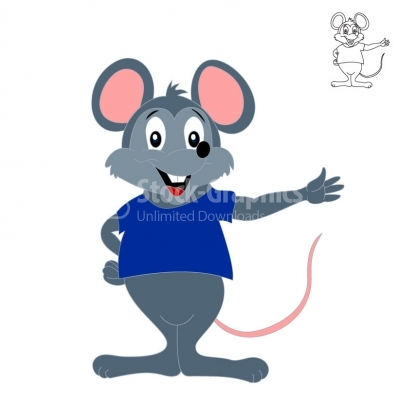 Little gray mouse - Illustration