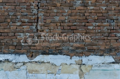 Brick wall texture background with cement