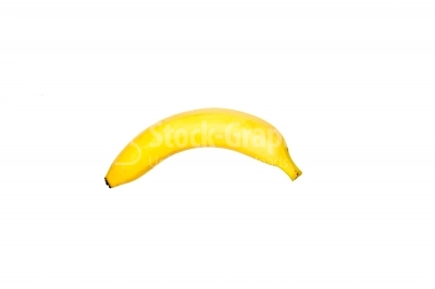 A banana in a white background