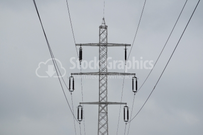 A photo of high voltage power lines