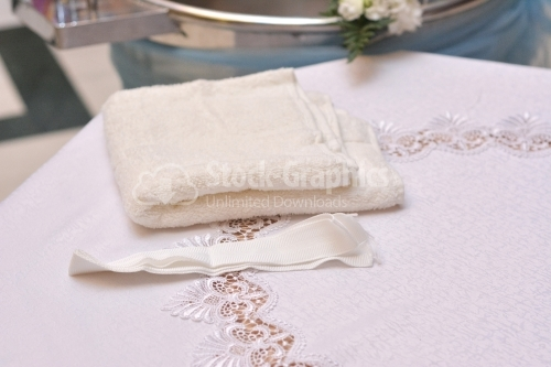 Baby towel for baby shower party