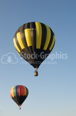 Balloons preparing to lift off