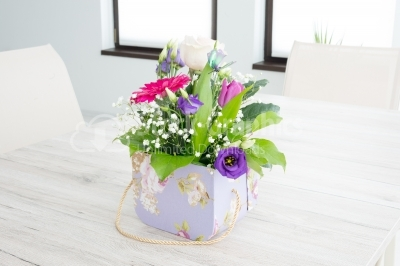 Beautiful bouquet of summer flowers