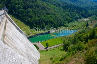 Bicaz Dam holding an artificial lake