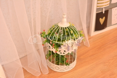 Bird cage for a wedding arrangements