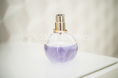 Blurred perfume bottle