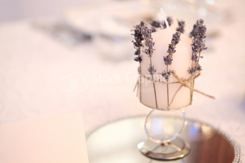 Candle with lavender