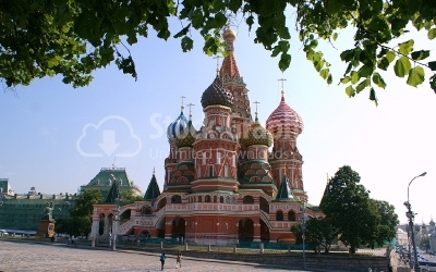 Cathederal, St Basil's Moscow - Stock Image