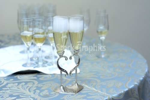 Champagne for bride and groom