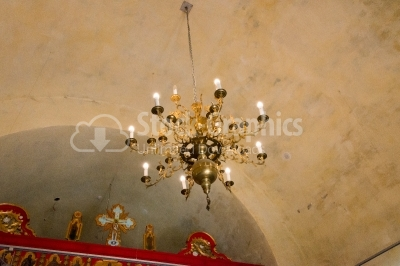 Chandelier in a church