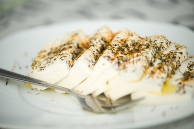 Cheese with aromatic herbs
