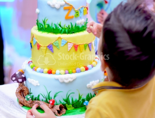 Colorful cake for children