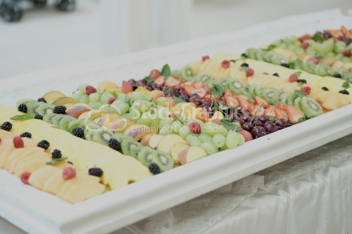 Colorful Fruit tray best health good food for party and holidays table.