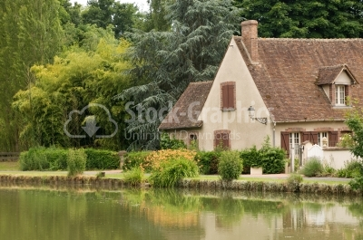Countryside House - Stock Image