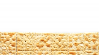 Crackers on white
