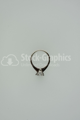 Diamond Wedding Ring isolated on white background.