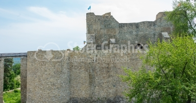 Fortified Medieval building on a hill