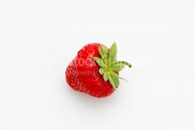 Fresh strawberry on a light background