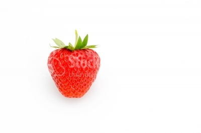 Fresh strawberry on white background focus
