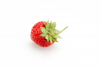 Front view of a strawberry