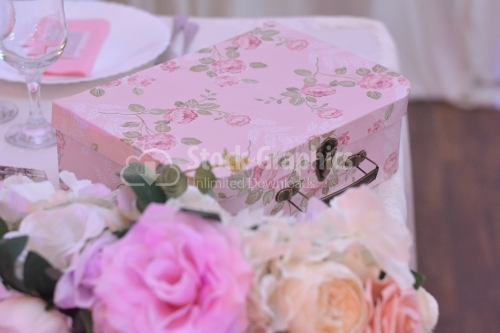 Gift box on a wedding