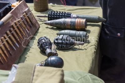 Grenades and ammunition