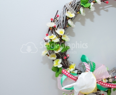 Half wreath isolated on white background