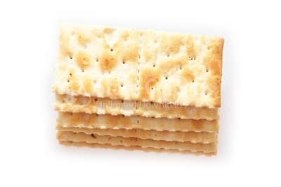 Image of crackers on white background