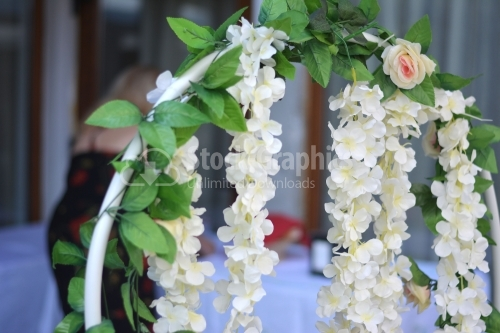 Jasmine flowers for a wedding decoration