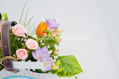 Lush flowers gathered in a nice bouquet