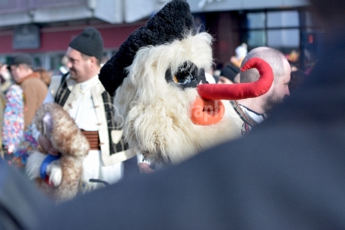 Mask specific Romanian traditional New Year. Authentic traditional from Romania