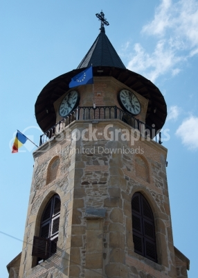 Medieval tower in Piatra Neamt, Romania