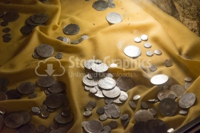 Metal Coins exhibited