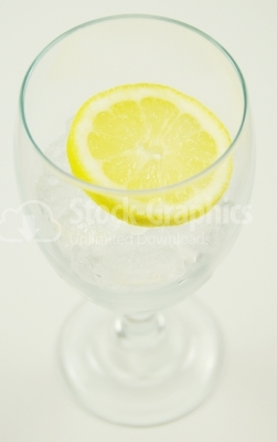 Mineral water with lemon - Stock Image