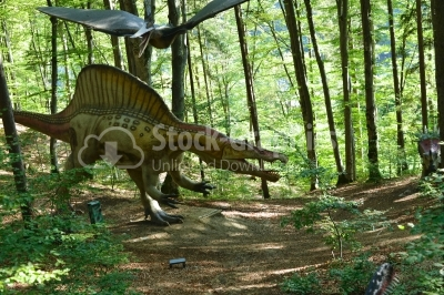 Model of a dinosaur in Dino Parc in Rasnov, Romania