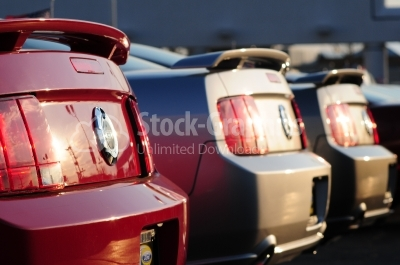Modern new cars - Stock Image cars - Stock Image