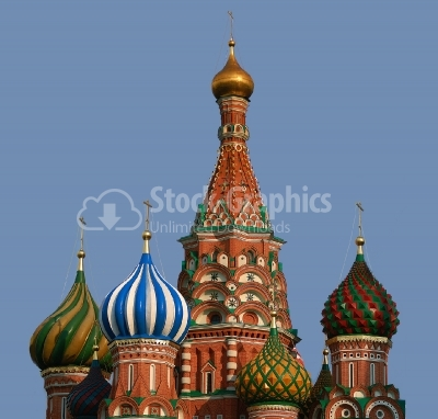 Moscow dome- Russian landmark on Red square - Stock Image