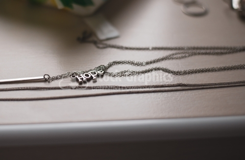 Necklace with word hope