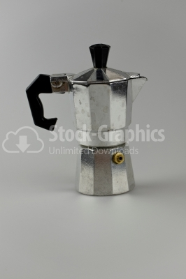 Old aluminum coffee maker photo