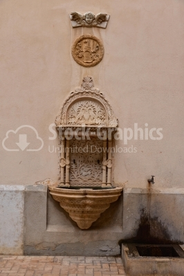 Old vintage water fountain decorations